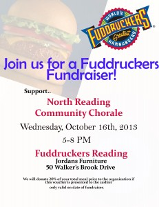 Join us for a Fuddruckers Fundraiser!